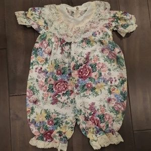 Other - Floral Jumpsuit with Lace Details